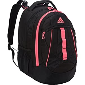 adidas Hickory Backpack, Black/Solar Pink, 19 x 14 x 11-Inch
