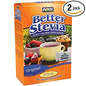 Now Foods Stevia Extract Packets (100/box) (Multi-Pack)
