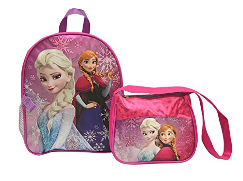 "Disney Frozen Elsa Anna 11"" Toddler Backpack & Purse Combo Set"
