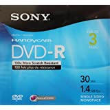 Sony Mini DVD-R 30 min 1.4 GB (pack of 3)
