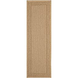 Safavieh Courtyard Collection CY7987-39A5 Natural and Gold Indoor/ Outdoor Runner, 2 feet 3 inches by 6 feet 7 inches (2\'3\
