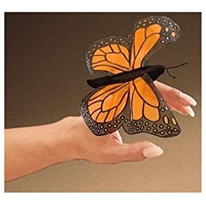 wedding reception decoration ideas, monarch butterfly finger puppet