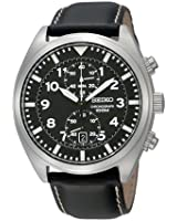 Men's Watch Seiko SNN231-2 - Chrono-Quartz movement - Leather Strap