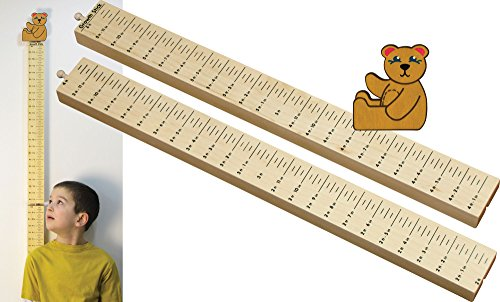 Growth Stick with Teddy Bear Topper - Made in USA