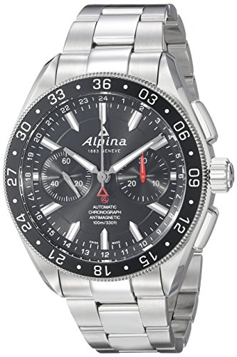 Alpina-Mens-AL-860B5AQ6B-Alpiner-4-Chronograph-Analog-Display-Automatic-Self-Wind-Silver-Watch