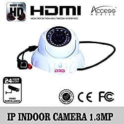 D3D IP Camera for Indoor, 1.3 MP with POE