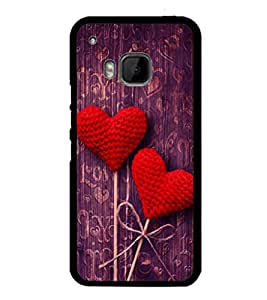 printtech Love Heart Wooden Pattern Back Case Cover for HTC One M9::HTC M9