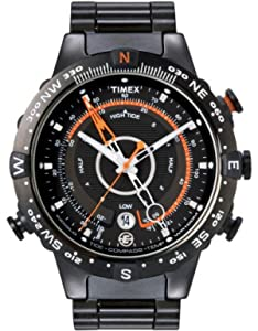 Timex Mens Expedition E Tide Temp Compass Watch Black Stainless Steel Case and Bracelet - T49709ES