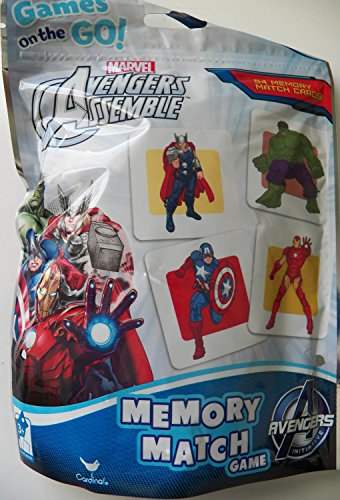 Marvel Avengers Assemble Memory Match Game Foil Resealable Bag