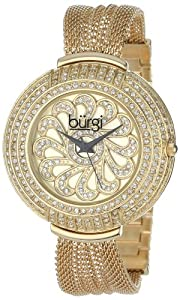 Burgi Women's BUR051YG Crystal Mesh Bracelet Watch