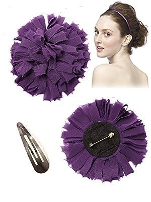 Women's Pin-on Lux Chiffon Confetti Flower by Dessy