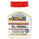 21st Century D 5000 Iu Tablets, 110-Count