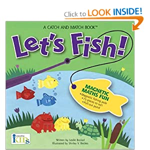 Let's Fish! Magnetic Math Fun with a Magnetic Fishing Pole, 15 Pieces to Sort, and a Pull-out Pond (A Catch and Match Book)