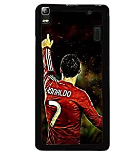 Printvisa Footballer In Aggression Back Case Cover for Lenovo A7000