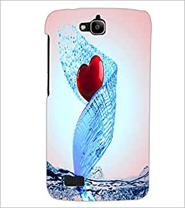 PrintDhaba Heart D-3448 Back Case Cover for HUAWEI HONOR HOLLY (Multi-Coloured)
