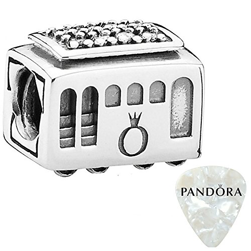 PANDORA Cable Car Charm, 2pc Bundle, with Pandora Clasp Opener
