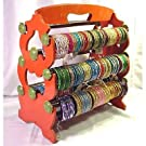 Bangleempoirum! Indian Bangle Stand Bracelet Display Rack Holder, Orange.