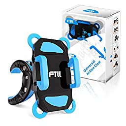 FTLL Bicycle Bike & Motorcycle Smartphone Mount Holder [Most Secure] Handlebar Holder Universal for iPhone 5 5s 6/ 6s plus iphone 7/7 plus Samsung Galaxy S4/5/6/7/C5/7/A3/7/5/9 Edge Note 4/5/6/7 LG G5