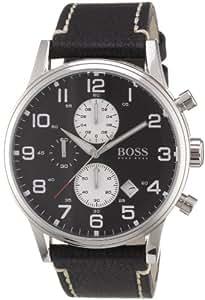 Hugo Boss - 1512569 - Montre Homme - Quartz Analogique - Bracelet Cuir Noir