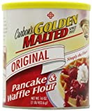 Golden Malted Pancake & Waffle Flour, Original, 16-Ounce Cans (Pack of 6)