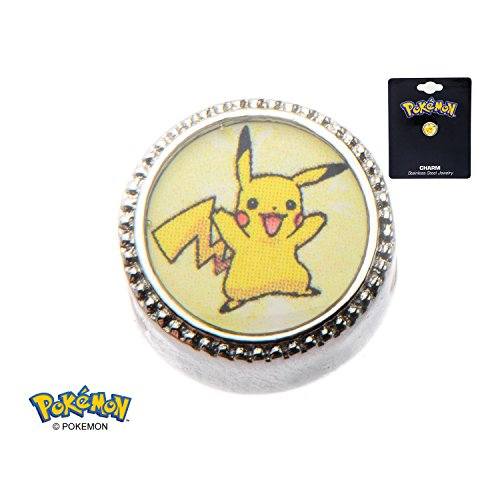 Pokemon Pikachu Lightning Bolt 316L Stainless Steel Bead Charm
