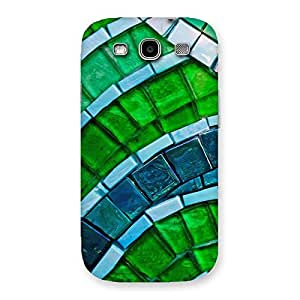 Greenish Pattern Back Case Cover for Galaxy S3
