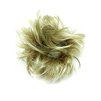 GIZZY® Ladies Girls Large Blonde With Highlights Fake Hair Scrunchy on a Ponio Loop
