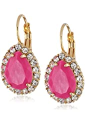"Carolee ""Rio Radiance"" Pink Teardrop Earrings"