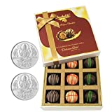 Chocholik Belgium Chocolates - 9pc Ultimate Assorted Collection Of Chocolate With 5gm X 2 Pure Silver Coins -...
