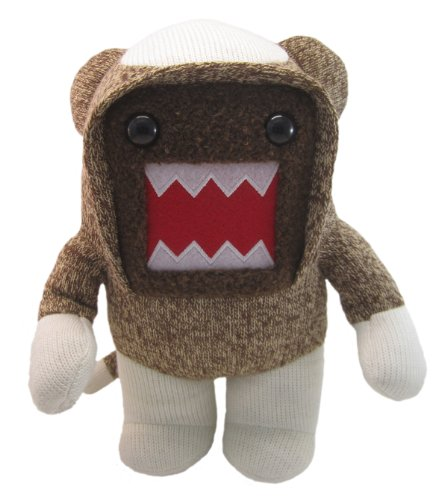 "Licensed 2 Play Domo Sock Monkey 6 1/2"" Plush"