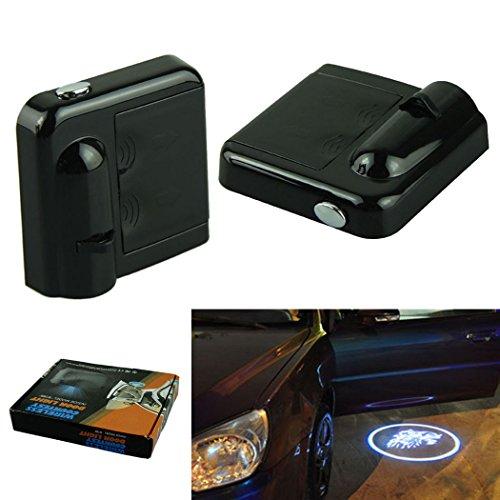 Voberry New Wireless Cree Led 12V Led Car Logo Door Light Wireless Logo Projector Light