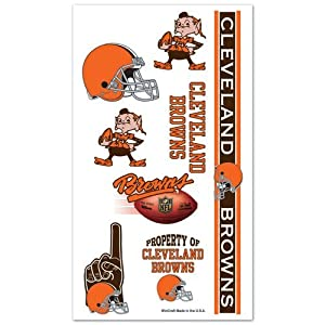 Cleveland Browns Temporary Body Tattoos 3 Pack