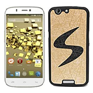 ECellStreet Exclusive Designer Rubberised Soft Back Case Cover Back Cover for Micromax A300 Canvas Gold - Black in Golden