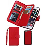 Summer Clearance Sale Day 2016Valentoria® For iPhone 6plus Wallet Case,Valentoria® Leather Magnetic Detachable Slim Back Cover Card Holder Slot Wrist Strap Case for iPhone 6plus