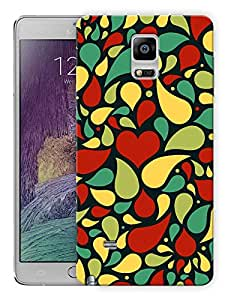 "Humor Gang Heart Girly Pattern Indian Printed Designer Mobile Back Cover For ""Samsing Galaxy Note 4"" (3D, Matte, Premium Quality Snap On Case)"