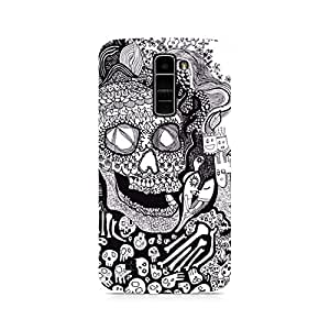 Ebby Skull Doodle Abstract Premium Printed Case For LG K7