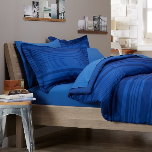 Pinzon 5-Piece Bed In A Bag - Twin X-Large, Royal Blue Calvin Stripe