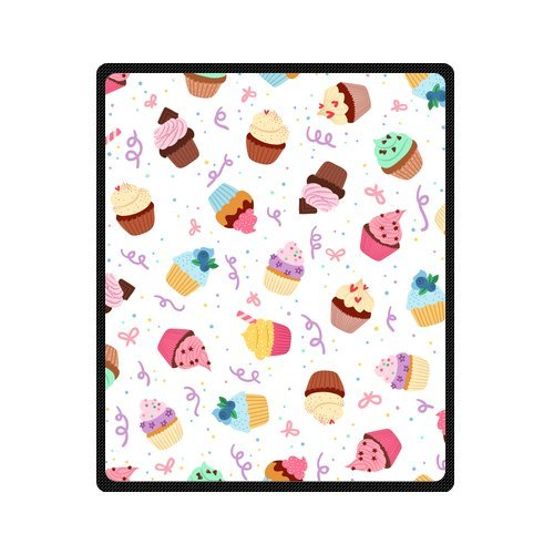 Personalized Fashion Seamless Pattern Colorful Cakes Picture Fleece Blanket 50 X 60 back-1073050
