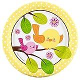 Sweet Tweet Bird Pink Dessert Plates (8)