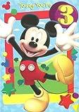 Disney Mickey mouse birthday card for age 3 by Hallmark