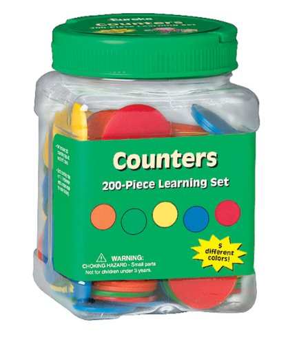 "Eureka Tub Of Counters, 200 Counters in 3 3/4"" x 5 1/2"" x 3 3/4"" Tub"