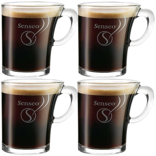 4x douwe egberts senseo tasse en verre design 180ml. Black Bedroom Furniture Sets. Home Design Ideas