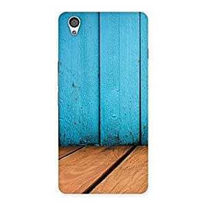 Impressive Wood Cyan Back Case Cover for OnePlus X