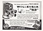 1956 Wollensak Camera: Model 53, Wollensak Print Ad