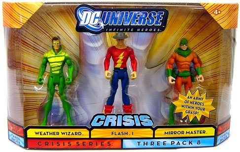 Buy Low Price Mattel DC Universe Infinite Heroes with Weather Wizard, The Flash, Mirror Master Figures (B001NXO838)