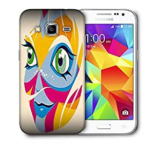 Snoogg Smiling Face Printed Protective Phone Back Case Cover For Samsung Galaxy Core Plus G3500