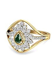 WearYourShine By PC Jeweller The Oceane 18 K Gold And Diamond Ring