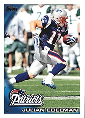 Julian Edelman 2010 Topps NFL Football Mint Rookie Card Picturing This New England Patriots Star in His Blue Jersey 325 Julian Edelman M (Mint)