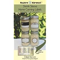 Heat Shrink Home Canning Labels Quart Jar Combo Pack