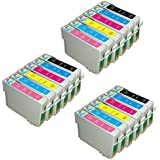 18 Pack - Remanufactured Ink Cartridges for Epson #98 #99 T098 T099 T098120 T099220 T099320 T099420 T099520 T099620 Inkjet Cartridge Compatible With Epson Artisan 700 Artisan 710 Artisan 725 Artisan 730 Artisan 800 Artisan 810 Artisan 835 Artisan 837